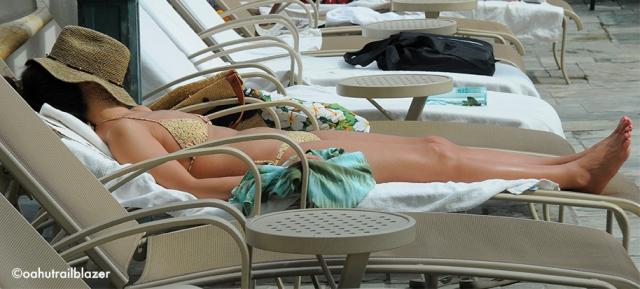 sunbathing oahu